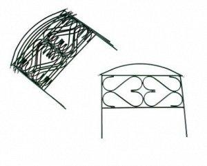 Ограждение декоративное, 5 секций, металл