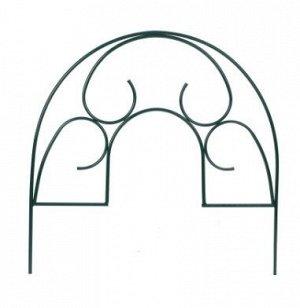 Ограждение декоративное, 5 секций, металл, зелёное