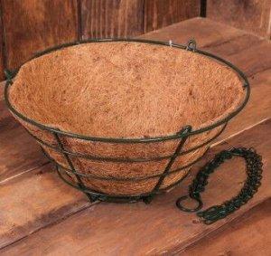 Кашпо подвесное с кокосовым вкладышем