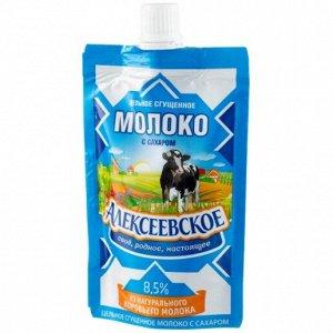 Молоко сгущенное Алексеевское 100г цельное 8,5% дой-пак 1х18