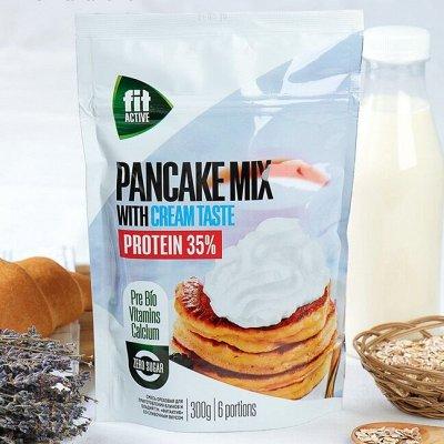 """ТМ """"ФитПарад"""" - продукты для здорового питания — Смеси для приготовления блинов, оладий, кексов и панна коты — Диетическая бакалея"""