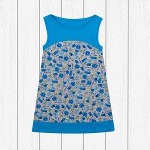 Платье с контрастной кокеткой