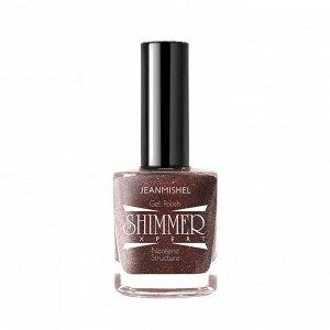 JEANMISHEL SHIMMER Лак для ногтей с эффектом геля 120 молочный шоколад голограф блестки 12мл/24шт/