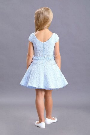 Платье из букле+ пышная юбка,кор.рук.,съемная брошь  Н.Г м.Леди