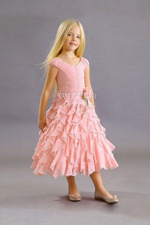 Платье корот.рук,нарядное,Жоржет, миди Fa-So-La