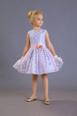 Платье нарядное,б/рук, + пояс с розами Н.Год  Fa-So-La