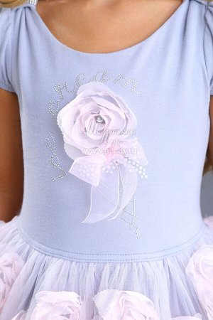 Платье нарядное,без рук,пышное,лиф пайетки, юбка украшена возд.розами  Н.год  м.Леди