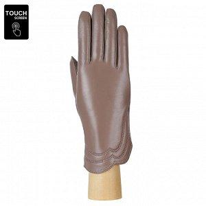 Перчатки, натуральная кожа, Fabretti S1.39-5s beige