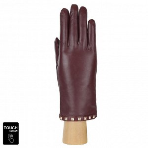 Перчатки, натуральная кожа, Fabretti S1.40-8 bordo