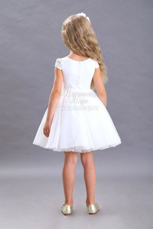 Платье пышное,кор.рук ,лиф кулирка с кружевом  Н.Г. м.Леди