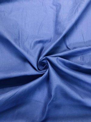 Ткань Сатин - Темно-голубой 0,5*1,6м