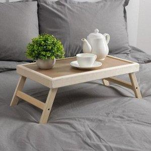 """Столик для завтрака складной, 50?30см, цвет орех сонома, """"Добропаровъ"""""""