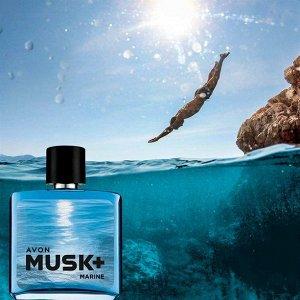 Туалетная вода Musk Marine+ для него, 75 мл