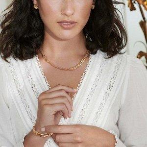 """Комплект бижутерии """"Жозефина"""": украшение на шею (1 шт.), браслет (1 шт.), серьги (1 пара)"""