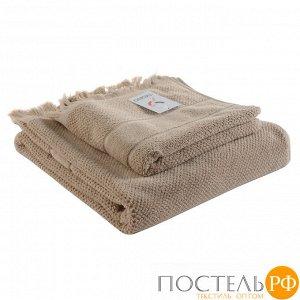 Полотенце банное с бахромой бежевого цвета Essential, 70х140 см