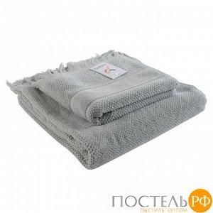 Полотенце банное с бахромой серого цвета Essential, 70х140 см
