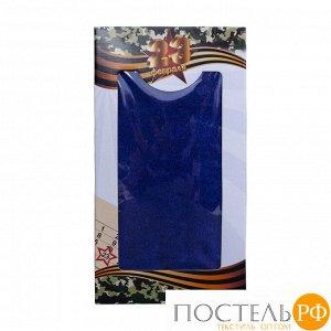Полотенце махровое Venera 70х140 см, 450 г/м2 Синий (Подарочная коробка)