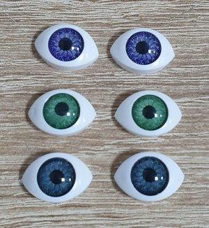 Глаза кукольные миндалевидные 17*12мм набор 2 пары
