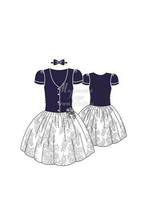 Платье пышное,бархат,юбка круж.полотно, декор цветы  Н.Г м.Леди