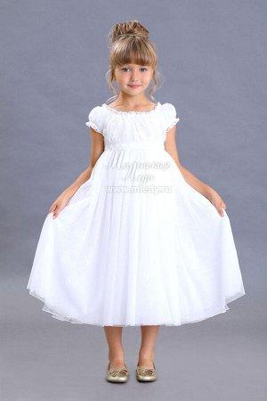 Платье пышное,завышенная талия, лиф кружевное полотно Н.Г м.Леди