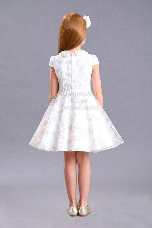 Платье,пышное,верх слой из сетки с вышивкой,воротник из бусин Н.Г м.Леди