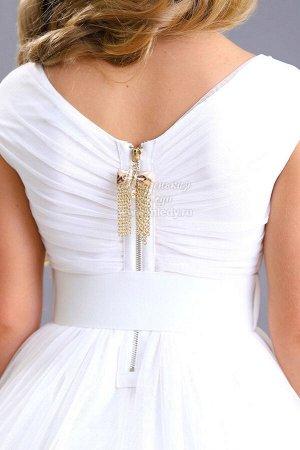 Платье,кор.рук,лиф с бусинами,ремень пряжка роза Н.Г. м.Леди