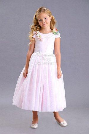 Платье,кор.рук,длинное,пышное, съёмное украш. Н.Г. м.Леди
