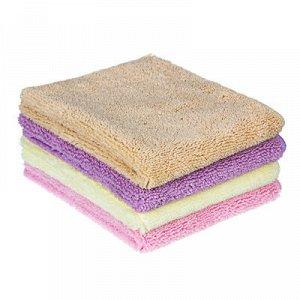 VETTA Салфетка из микрофибры для сухой уборки, 30х40см, 300 г/кв.м. 4 цвета