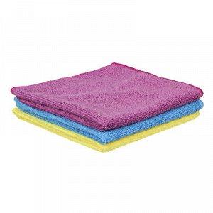 С VETTA Набор салфеток из микрофибры, для кухни 3 шт, махровые, 30х35см, 3 цвета, 3830-22