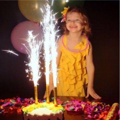 Экспресс💥Подарки для всех)  — ХИТ!!! Свечи-фейерверк для торта! — Украшения для интерьера
