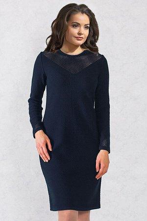 Платье вязаное 4499 К  Синий