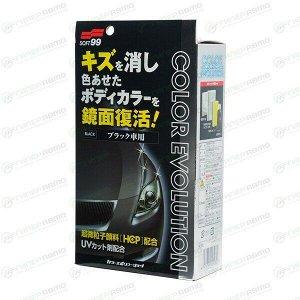 Полироль кузова Soft 99 Color Evolution, для восстановления лакокрасочного покрытия чёрных автомобилей, флакон 100мл, (+губка, салфетка и перчатка), арт. 00503