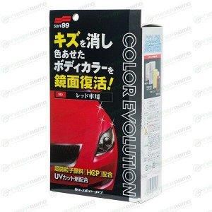 Полироль кузова Soft 99 Color Evolution, для восстановления лакокрасочного покрытия красных автомобилей, флакон 100мл, (+губка, салфетка и перчатка), арт. 00505