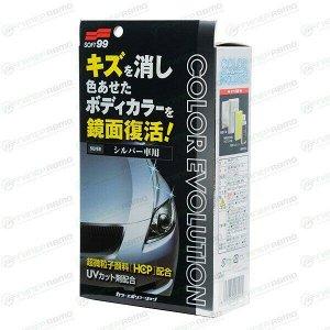Полироль кузова Soft 99 Color Evolution, для восстановления лакокрасочного покрытия серебристых автомобилей, флакон 100мл, (+губка, салфетка и перчатка), арт. 00502
