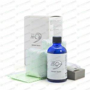 Защитное покрытие кузова (жидкое стекло) Soft 99 H-9 Ultimate Quartz, керамическое, с водоотталкивающим эффектом и приданием блеска, флакон 100мл (+4 салфетки, 2 перчатки, губка), арт. 10089