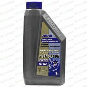 Масло моторное ABRO 2-Stroke Oil Premium, для 2-тактных двигателей, 1л, арт. API TC-W3