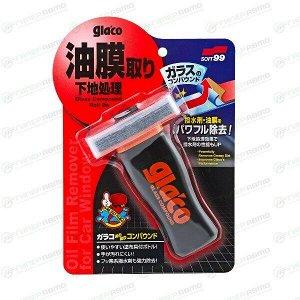 Очиститель стёкол Soft 99 Glaco Compound, абразивный, от въевшейся грязи и масляных разводов, флакон с аппликатором 100мл, арт. 04101