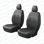 Чехлы CARFORT SKIN для передних сидений, кожзам, серый цвет, комплект 2шт