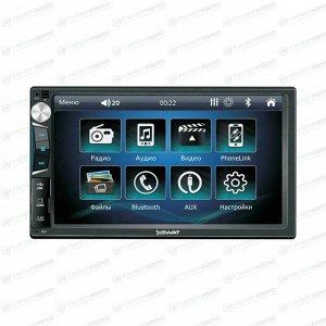 Мультимедийный центр SWAT CHR-5150, 2 DIN, Bluetooth/USB/AUX/MicroSD, 4x50Вт, поддержка камеры заднего вида и кнопок мультируля, настраиваемая подсветка