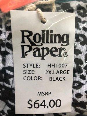 Мужская толстовка Rolling Paper – популярный черно-белый микс с капюшоном №54
