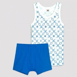 3311 Комплект для мальчика (белый/синий)