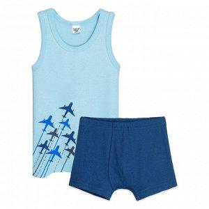 3309 Комплект для мальчика (голубой/т.синий)