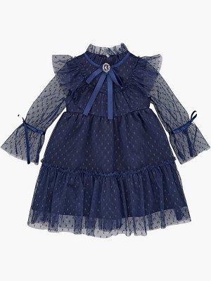 Платье (98-122см) UD 7360(1)синий/зол
