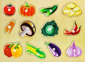 Вкладыши Овощи-3 с ручками