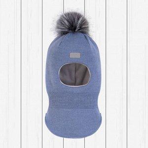 Шлем зимний арт.Ш-086-голубой