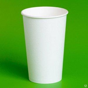 Стакан бумажный 400 мл. белый, D90, 16 oz., 50 шт.