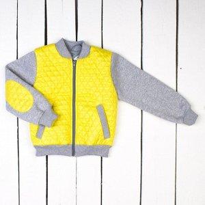 Куртка-бомбер арт.70-019-желтый