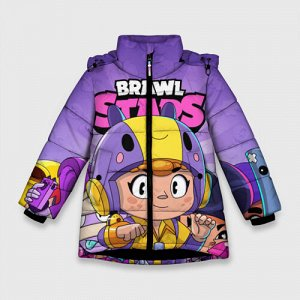 Зимняя куртка для девочек 3D «BRAWL STARS BEA»
