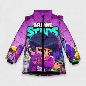 Зимняя куртка для девочек 3D «BRAWL STARS BIBI»