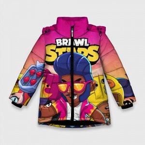 Зимняя куртка для девочек 3D «BRAWL STARS BROCK»
